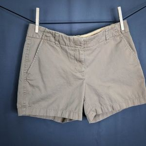 J Crew Womens Shorts Size 6 Khaki Tan Chino Twill